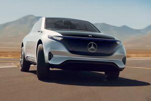 Mercedes показа нов електромобил в движение
