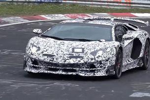 Показват на видео Lamborghini Aventador SVJ