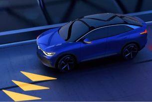 Volkswagen прожектира изображения по пътя