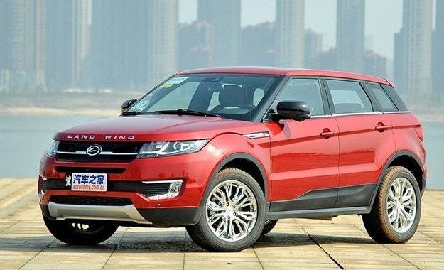 Land Rover постигна забрана на китайско копие