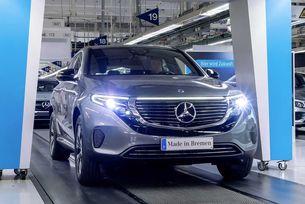 Първият кросоувър на Mercedes на ток слезе от конвейера