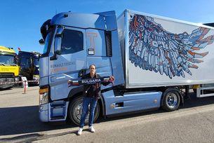 Българин с награда за най-бърза смяна на гума на камион