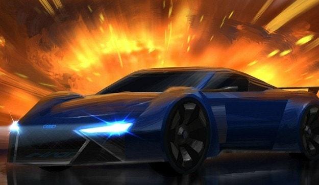 Audi показа концептуален автомобил за рисуван филм