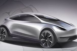 Tesla показа дизайна на нов електромобил