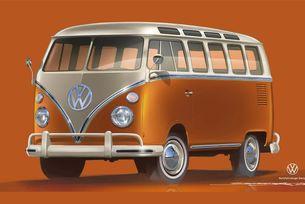 Volkswagen представя електрически ретро ван