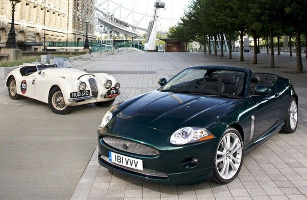 "Jaguar XK удари ""шейсетака"""