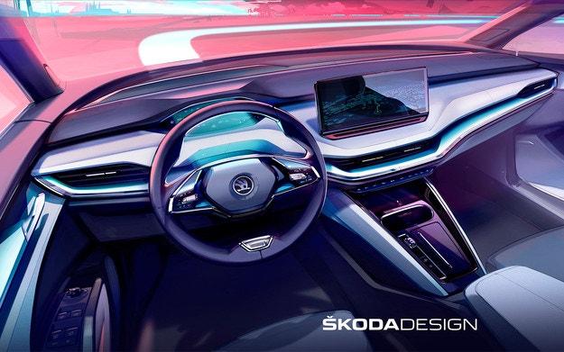 Skoda представи интериора на новия кросоувър