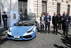 Полицейският Lamborghini Huracan като бъраза помощ
