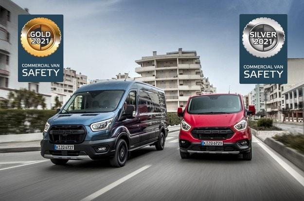 Ford Transit с пет звезди от Euro NCAP