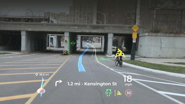 Екранът на Panasonic предупреждава велосипедисти
