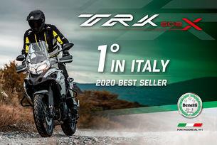 Benelli TRK 502 е номер 1 на пазара в Италия