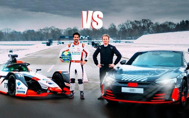 Дуел: Audi RS e-tron GT срещу Formula E Audi