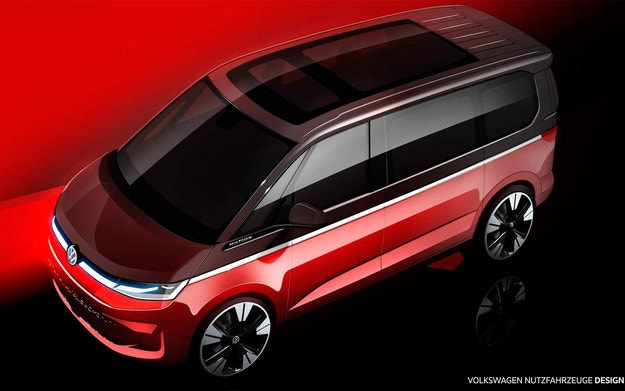 Volkswagen показа външния вид на новия Multivan