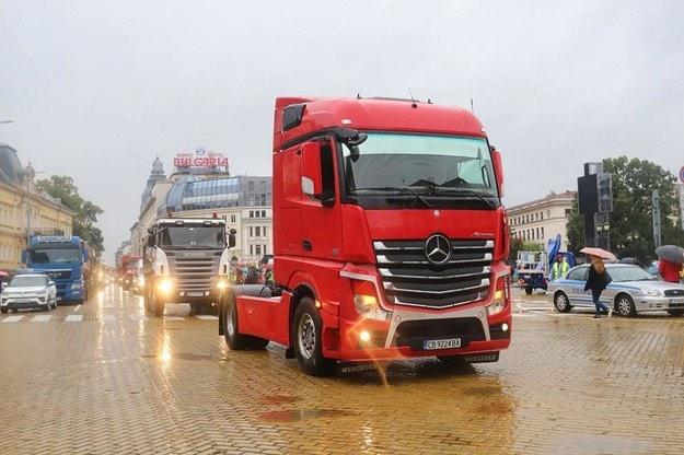 Издават актове на шофьорите на камиони от софийския протест