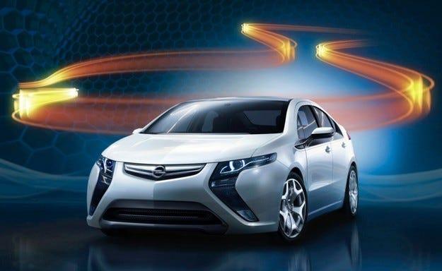 Opel Ampera: Първи тийзър