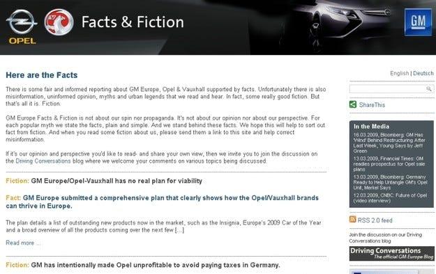 GM и Opel с нов сайт за базираните на факти дискусии