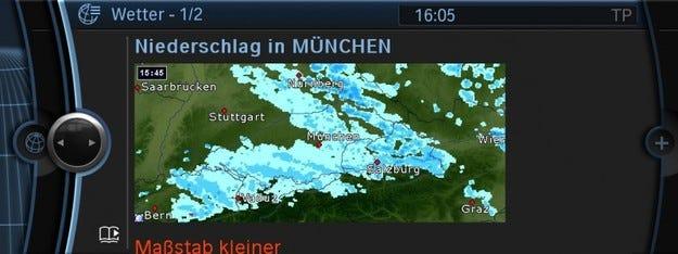 BMW ConnectDrive: Как е времето?