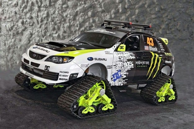 Subaru WRX STI TRAX: Ледена вихрушка
