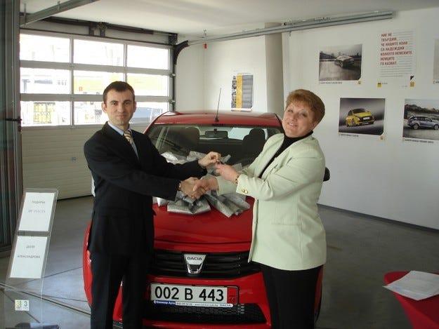 Подарък червена Dacia Sandero отиде в Пловдив