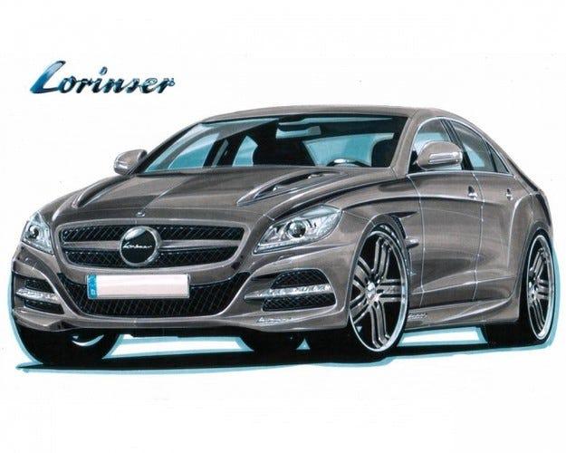 Lorinser Mercedes CLS: Предпремиерно
