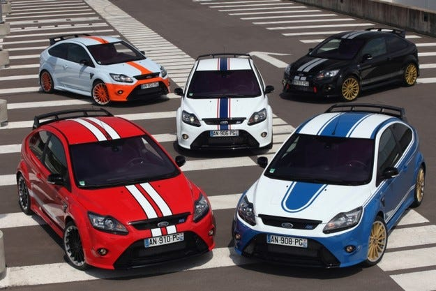Ford Focus RS Le Mans Classic: Петобой