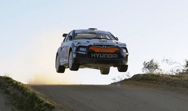 Hyundai планира участие в рали спорта с Veloster?