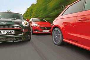 Audi S1, Mini JCW, Opel Corsa OPC