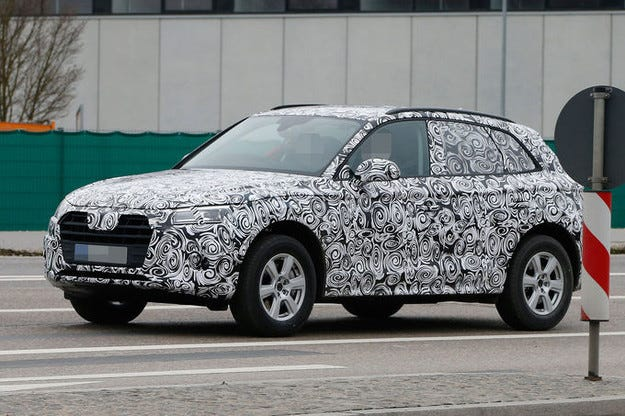 Audi Q5 (2016): Уловен е тайният прототип на SUV