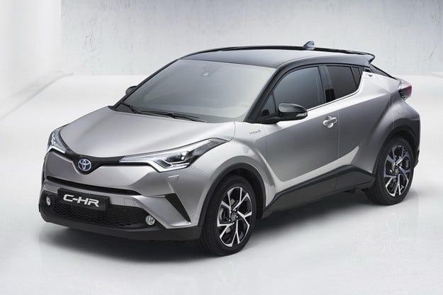 Снимки на кросоувъра Toyota C-HR се появиха в мрежата