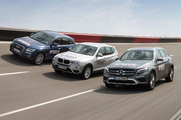 Audi Q5, BMW X3, Mercedes GLC
