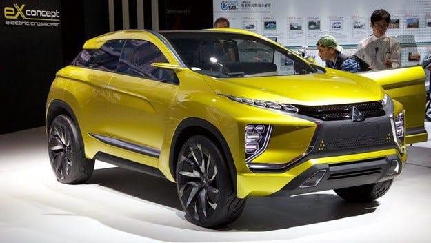 Електрическият Mitsubishi eX Concept на път към конвейера