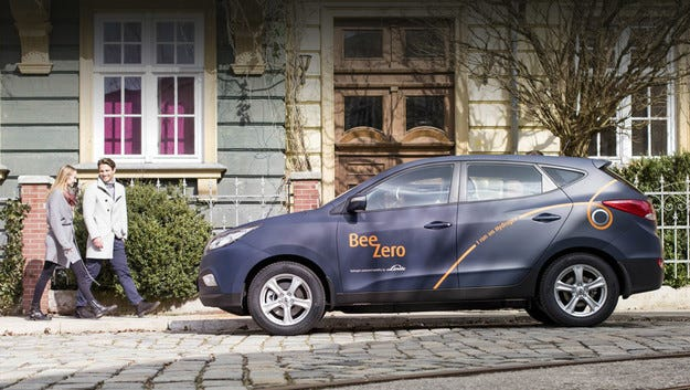 Немци обявиха програма за каршеринг с водородни коли