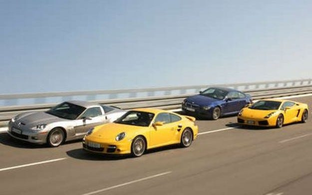 BMW M6 vs. Corvette Z 06 vs. Lamborghini Gallardo vs. Porsche 911 Turbo