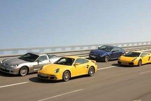BMW M6 vs. Corvette Z 06 vs. Lamborghini Gallardo vs. Porsche 911 Turbo