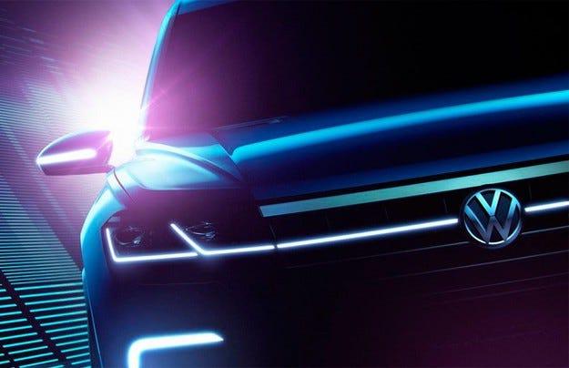 Volkswagen представя тийзър на голям кросоувър