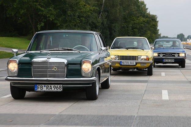 Audi 100 LS, Mercedes-Benz 230 и NSU Ro 80