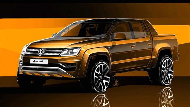 Volkswagen разкри дизайна на обновения пикап Amarok