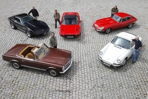 "Porsche 911, Mercedes ""пагода"", Jaguar E-Type, Chevrolet Corvette и Ferrari 308"