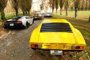 Lamborghini Miura и нейните наследници Countach, Diablo и Murciélago