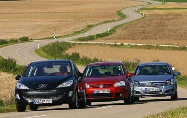 Opel Astra, VW Golf & Peugeot 308