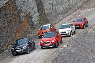 Fiat 500X, Honda HR-V, Mazda CX-3, Opel Mokka, Renault Captur