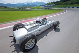 Porsche 804 от Формула 1: Старо сребро