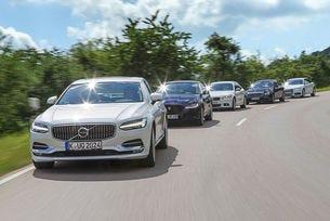 Audi A6, BMW Серия 5, Mercedes E-класа, Jaguar XF, Volvo S90 в сравнителен тест