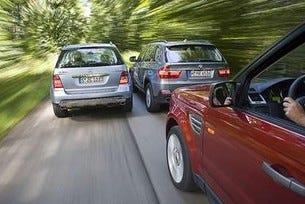 Range Rover, BMW X5 & Mercedes ML