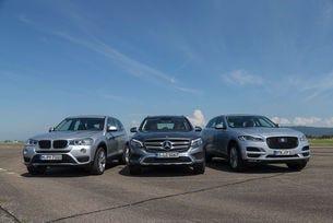 BMW X3, Jaguar F-Pace, Mercedes GLC: Германия срещу Англия