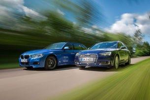 Audi S4 Avant 3.0 TFSI в двубой с BMW 340i Touring M Sport