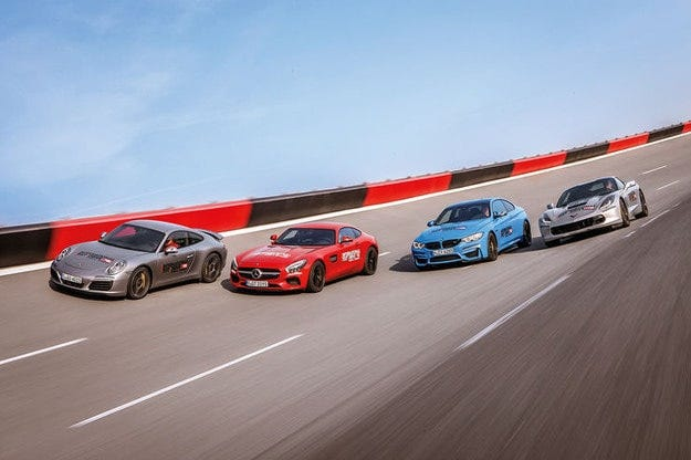 BMW M4, Corvette, Mercedes-AMG GT, Porsche 911