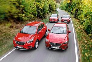 Сравняваме Opel Mokka X, Mazda CX-3, Peugeot 2008 и Renault Captur