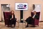 Александър Миланов, изпълнителен директор на BMW Group България (вдясно) и Десислава Стоичкова, експерт корпоративни коминукации, по време на пресконференцията с журналисти в София