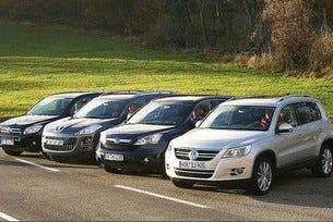 VW Tiguan, Honda CR-V, Peugeot 4007, Toyota RAV4
